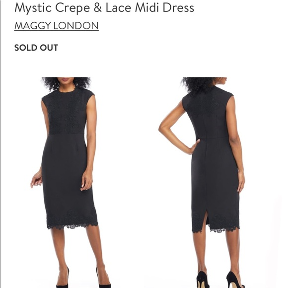 Maggy London Dresses & Skirts - SOLD OUT NWT Maggy London Black Crepe & Lace Dress